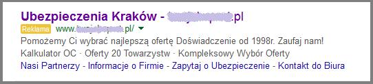 Przykład zastosowanie rozszerzenia objaśnień w AdWords