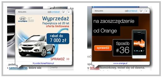 Reklamy Adkontekst w formacie Flash