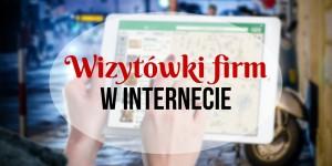 Wizytówki firm w internecie