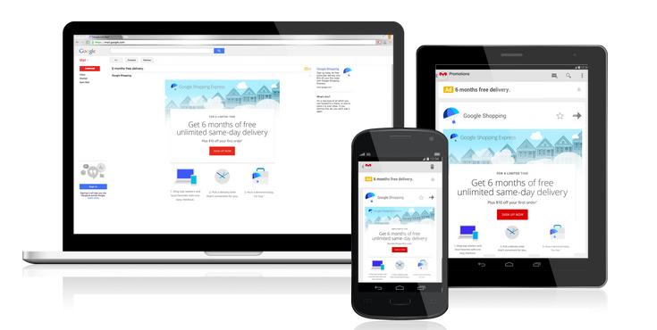 Rozwinięta reklama w Gmailu