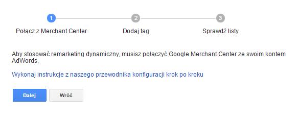 Łączenie kampanii reklamy dynamicznej z Google Merchant Center