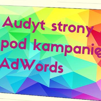 Audyt stronie nie dotyczy tylko SEO, ale też kampanii AdWords